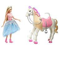 Barbie princess adventure, princezná a kôň so svetlami a zvukmi - Bábika