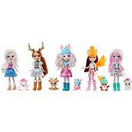 Enchantimals 5 ks zimná bábika so zvieratkom - Bábiky