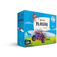 Vedomostná hra Kvído – Stavebnica Playstix – lietadlo 26 dielikov