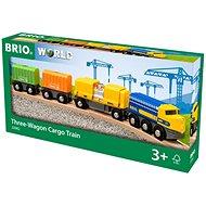 Brio World 33982 Nákladný vlak s tromi vagónmi - Vláčikodráha