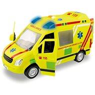 Auto MaDe Ambulancia, na zotrvačník, s reálnym hlasom posádky, 21 cm - Auto