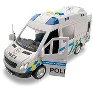MaDe Auto policajná dodávka, na zotrvačník s reálnym hlasom posádky, 21 cm - Auto