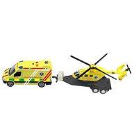 Sada ambulancia + vrtuľník, so svetlom a zvukom - Hračka