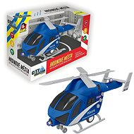 Vrtuľník policajný na zotrvačník, na batérie so svetlom a zvukom - Vrtuľník