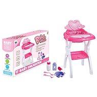 Stolička pre bábiky, s príslušenstvom - Hračka