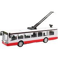 Trolejbus kovový, na spätné natiahnutie, 16 × 2,7 × 2,7, so svetlom a zvukom - Auto