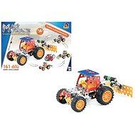 Malý mechanik – traktor s príslušenstvom 4 v 1, 161 ks - Stavebnica