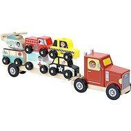 Vilac Drevený kamión s autíčkami na nasadzovanie - Drevená hračka