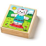 """Woody Puzzle šatníková skriňa """"Mačička"""", 18 dielov - Puzzle"""