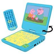 Peppa Pig Prenosný DVD prehrávač 7 s rotujúcou obrazovkou a slúchadlami - Hudobná hračka