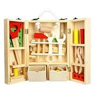 Náradie drevo 30 ks v drevenom kufríku - Detské náradie