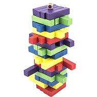 Hra veža drevená 60 ks farebných dielikov spoločenská hra - Spoločenská hra