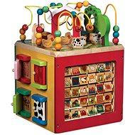 Drevená hračka Interaktívna kocka Farma - Dřevěná hračka