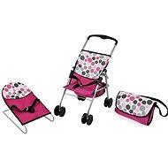 Hauck Cestovná sada ružová, bodky - Doplnok pre bábiky