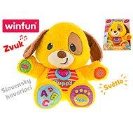 Puppy náučný psík 33 cm hovoriaci po slovensky na batérie so svetlom - Interaktívna hračka