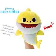 Baby Shark plyšová maňuška 23 cm žltá na batérie s voliteľnou rýchlosťou hlasu 12m+ vo vrecúškuku - Plyšová hračka