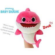 Baby Shark plyšová maňuška 23 cm ružová na batérie s voliteľnou rýchlosťou hlasu 12m+ vo vrecúškuu