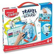 Kreatívna súprava Sada Maped Travel Board - Hry a kreslenie so zvieratkami