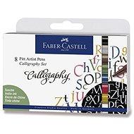 Popisovače Faber-Castell Pitt Artist Pen Caligraphy, 8 farieb - Popisovač