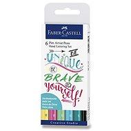 Popisovače Faber-Castell Pitt Artist Pen Hand Lettering, 6 farieb - Popisovač