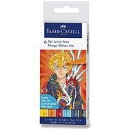 Popisovače Faber-Castell Pitt Artist Pen Manga Shonen, 6 farieb - Popisovač