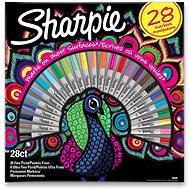 Permanentné popisovače Sharpie Peacock, 28 farieb - Popisovač