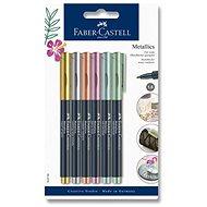 Popisovače Faber-Castell Metallics, 6 metalických farieb - Popisovač