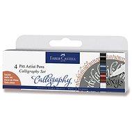 Popisovač Faber-Castell Pitt Artist Pen Caligraphy, 4 farby - Popisovač
