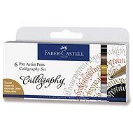Popisovač Faber-Castell Pitt Artist Pen Caligraphy, 6 farieb - Popisovač