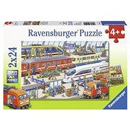 Ravensburger 091911 Vlaková stanica 2× 24 dielikov