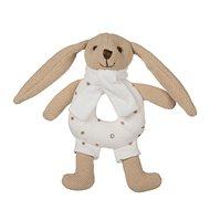 Canpol babies Zajačik Bunny s hrkálkou béžový - Plyšová hračka