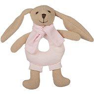 Canpol babies Zajačik Bunny s hrkálkou ružový - Plyšová hračka