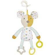 Canpol babies Hebký maznáčik na klipse s hryzadlami Mouse - Plyšová hračka