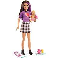 Barbie Opatrovateľka Skipolly Pocketer + bábätko a doplnky - Bábiky