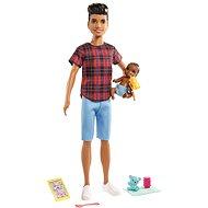 Barbie Opatrovateľ Ken + bábätko a doplnky - Bábiky
