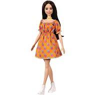 Barbie Model - Orange dress with polka dots