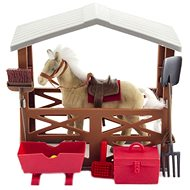 Horse fox with stables and accessories