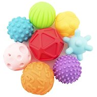 Set of 9pcs balls with rubber texture