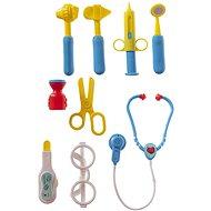 Teddies Súprava doktor/lekár plast so stetoskopom v kufríku na kolieskach - Tematická sada hračiek