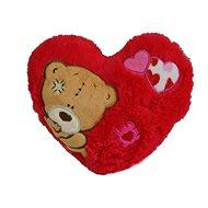 Srdce s medvedíkom 16 × 20 cm - Plyšová hračka
