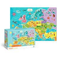 Puzzle Mapa Európy – 100 dielikov