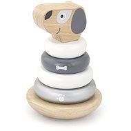 Drevená pyramída – pes - Drevená hračka