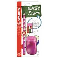 STABILO EASYgraph, školská sada ružová R, so strúhadlom a gumou