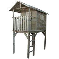 Domček detský drevený s rebríkom Vyhliadka - Detský domček