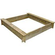 Pieskovisko drevené štvorhranné s dvoma sedadlami - Pieskovisko
