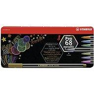 STABILO Pen 68 metallic, 8 ks, kovové puzdro