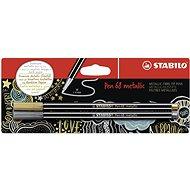 STABILO Pen 68 metallic, 2 ks, zlatá a strieborná, v blistri