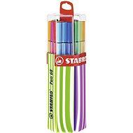 STABILO Pen 68, 20 ks, Twin Pack ružové/zelené, závesné - Fixky