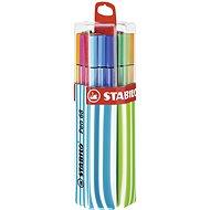STABILO Pen 68, 20 ks, Twin Pack modré/zelené, závesné - Fixky
