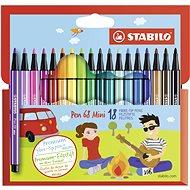 STABILO Pen 68 Mini, 18 ks, kartónové puzdro